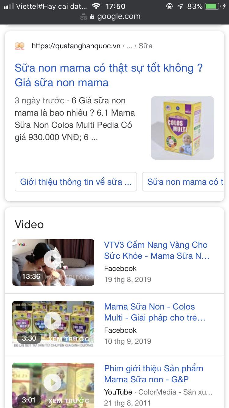 Sữa non mama